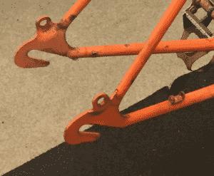 horizontale Pads racefiets
